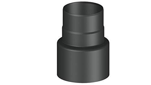 Ofenrohr-Übergangselement Reduzierung von Ø 150 auf Ø 120 mm, schwarz
