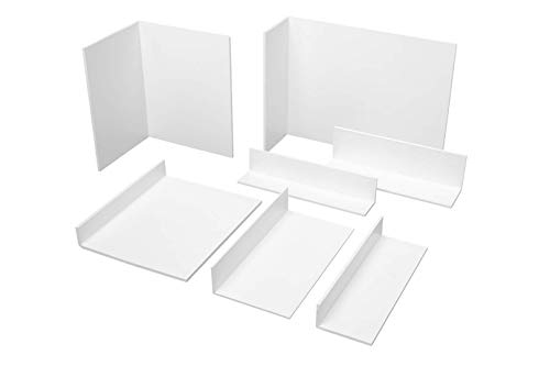 2 Meter | Winkelprofil | ungleichschenklig | PVC | weiß |Hexim | 366