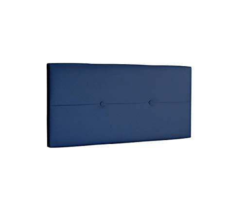 DHOME Cabecero de Polipiel o Tela AQUALINE Pro cabeceros Cabezal tapizado Cama Lujo (Polipiel Azul, 95cm (Camas 70/80/90))