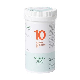 Schussler zout pfluger nr 10 Natrium Sulfuricum D6 400 Tabletten Glutenvrij