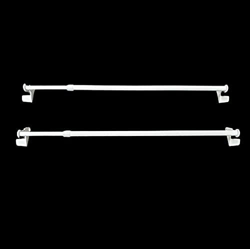 MadeInNature Lot de 2 tringles à Rideaux autobloquantes sans perçage Fix VIT Extensibles (Blanc, 50 x 80 cm)