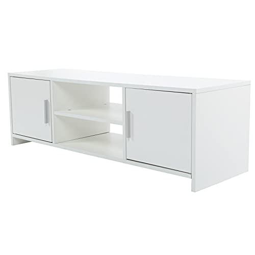 Gmkjh Consola de TV, gabinete de Almacenamiento de Soporte de TV Moderno con Tablero de partición Consola de TV para decoración de Sala de Estar