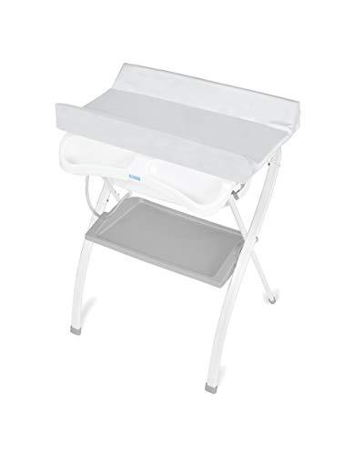 Bañera alta Spalsh ZY Baby - compacta con cambiador, baño para bebes, asiento anatómico - Zippy (Gris) - Nuevo Modelo!
