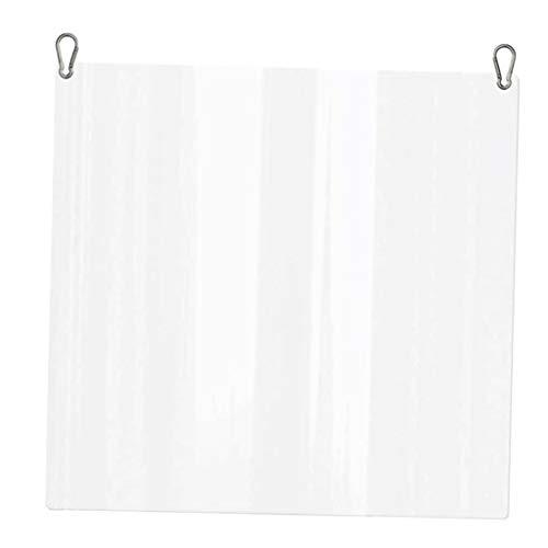 Hängender Verdickter Acryl Schutzschild, Niesschutz Spuckschutz Tröpfchenschutz Schild - Transparent - 400 x 400 x 3 mm