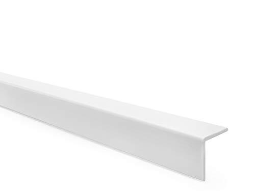 PVC Winkelprofil Selbstklebend Kantenschutz Eckenschutz Eckleiste Winkelleiste Elastisch Kunststoff Gummi, 40x40mm, 150cm, weiß