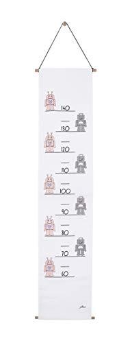 Jollein Diagramme de Croissance Robot Pink 70-140 cm 1 Unité