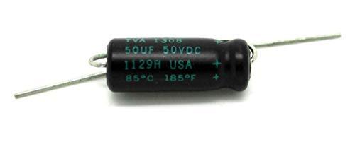 Sprague Atom 50uF 50V condensador electrolítico para amplificador y radio antigua de válvulas