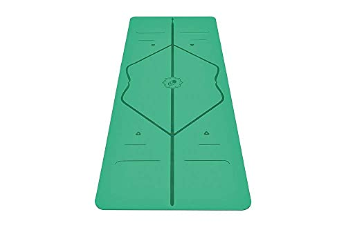 Liforme Original Yoga Mat – Patented Alignment System, Warrior-Like Grip, Non-Slip, Eco-Friendly and Biodegradable, Sweat-Resistant, 4.2mm Thick mat for Comfort - Green