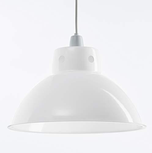 Luminaire Plafonnier en Métal de Style Rétro Moderne, Suspension Industrielle Vintage, Luminaire Industriel Parfait pour Café, Bistro, Restaurant 300mm Diamètre
