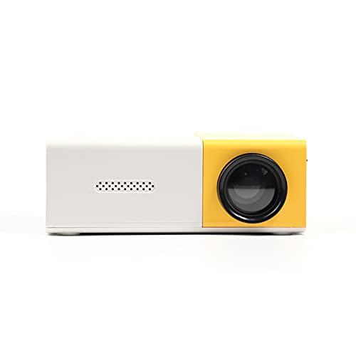 Zwbfu Mini Proiettore,Mini proiettore Videoproiettore Portatile Videoproiettore per Esterni con interfacce AV USB HD Telecomando 400 Lux LED LCD Proiettore Home Theater Portatile