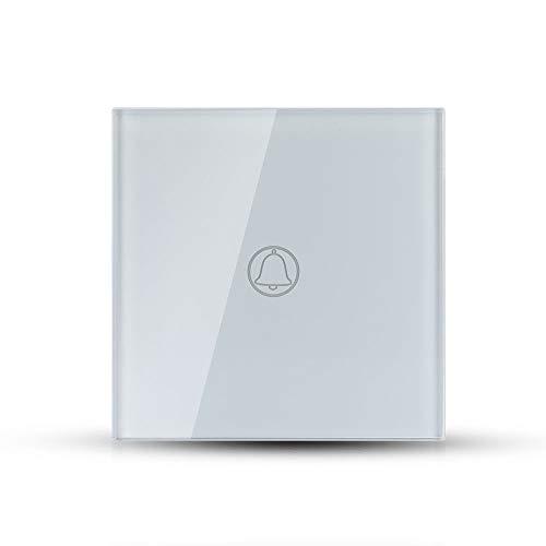 V-TAC VT-5411 interruptor táctil doorbell activación timbre blanco empotrable 1 botón - sku 8372