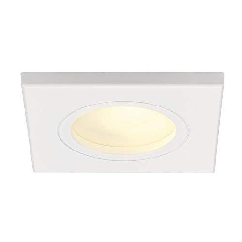 Spot encastré - Carré - G5.3 - 35 W - SLV Dolix Out - IP65 - Blanc