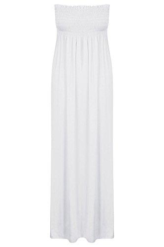 Fashion 4 Less Damen Kleid Weiß weiß 54
