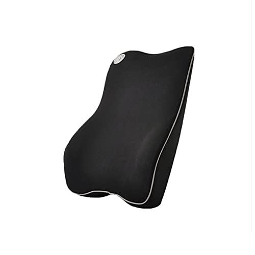 Ablily - Cojín lumbar para escritorio, cojín lumbar de coche de rebote