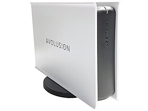 Avolusion PRO-5X Series 4TB USB 3.0 External Gaming Hard Drive for PS5 Game Console (White) - 2 Year Warranty
