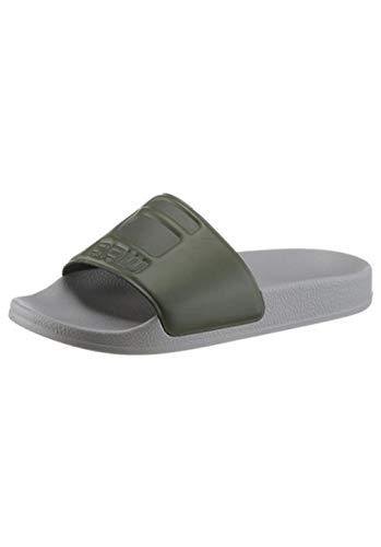 G-STAR RAW Cart Slide W EU - 36 Damen Badeschuhe Pantoletten grau grün