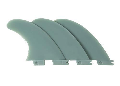 Liquida Aletas para tabla de surf, G5 Medium, 3 unidades, varios colores (verde oscuro)