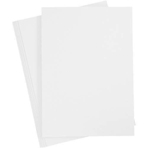 Made in Germany, Karton DIN A4 Weiß, 20 Blätter, Premium Qualität, Bastelkarton 210x297 mm, 180 g. Schneeweiß