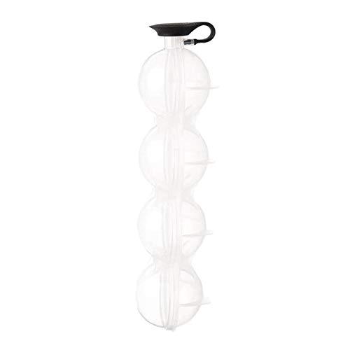 Taloit Molde de bola de hielo para cubitos de hielo redondos, tamaño grande, 1/2/5 unidades, flexible, 4 celdas, para bebidas de whisky, fácil riego, 5,5 cm