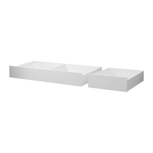 IKEA HEMNES Bettkasten 2er-Set in weiß; aus Massivholz; (200cm)