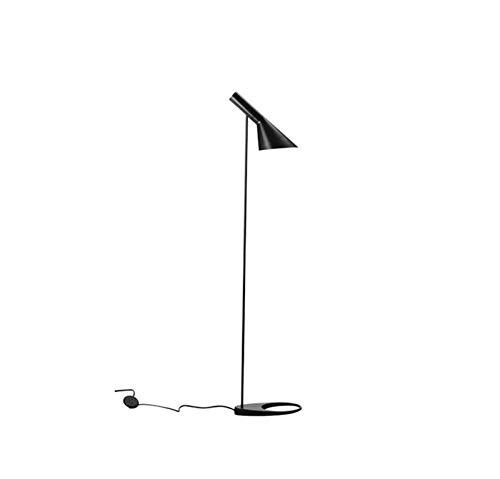 LDH Diseño Moderno Lámpara De Pie Lámpara De Pie Nórdico Minimalista Moderna Sala De Estar Personalidad Creativa (Color : Negro)