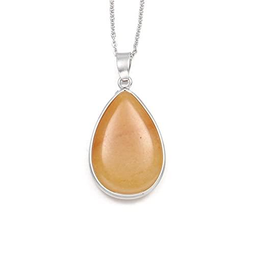 Shawari Moda Piedra Natural ágatas Collares Pendientes malaquita aventurina jades encantos Collar Accesorios de joyería