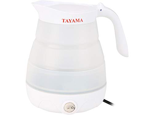 Tayama TFK-002 Travel Foldable Electric Kettle, 0.6 liter, White