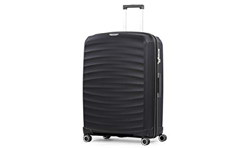 Rock Sunwave 79cm Expandable Hard Shell Suitcase Black