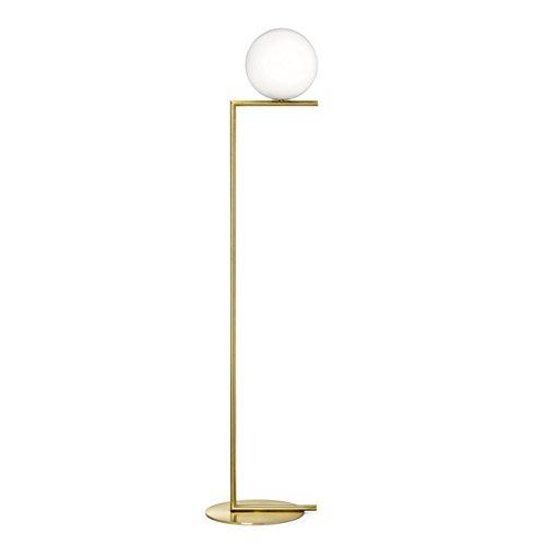 Stehleuchte Stehlampe Innenbeleuchtung Nordic Eye-Care Stehlampe, Globus Glas Lampenschirm, Warm Metall Stehlampe für Wohnzimmer, Schlafzimmer, Studie, Hotel Standleuchten Leseleuchte Stehleuchten