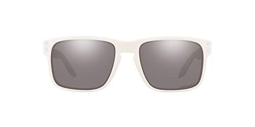 Oakley Men#039s OO9102 Holbrook Square Sunglasses Matte White/Prizm Grey 55 mm