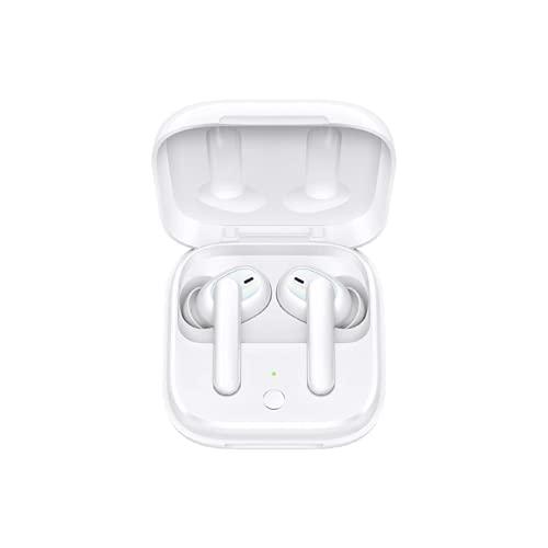 OPPO Enco W51 – Auriculares inalámbricos (Triple micrófono con reducción de ruído, carga inalámbrica, Bluetooth 5.0, resistencia al aguay polvo IP54, duración de batería de hasta 24 horas) Blanco