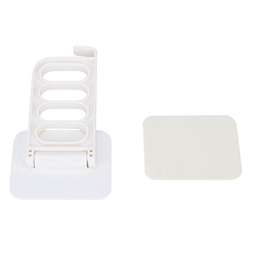 Clothes Hanger Wall Mounted Clothes Dryer Punch-Free Adhesive Laundry Rack (4Hole)(Beige)
