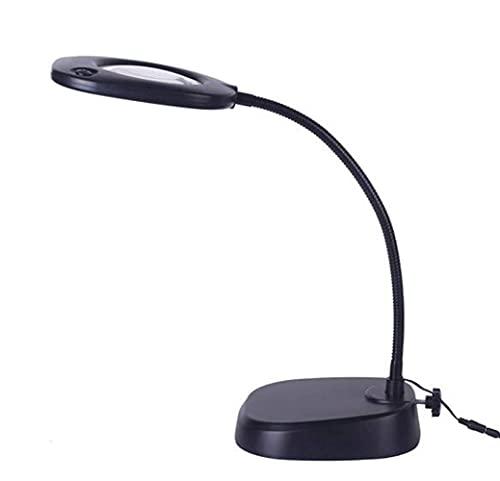 DIEFMJ Lupa de 10 x lámpara de lupa – Luz de día brillante – Lámpara de escritorio de aumento Rotar Lupa Brazo oscilante Lámpara de sobremesa, para mesa, tarea, manualidades, joyas, coser