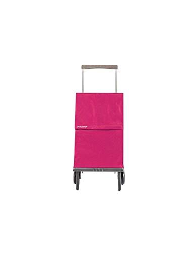 Rolser - PLE001 - Poussette à Marché Polyester - 43L - Rouge (Bordeaux) - 97x27x42 cm