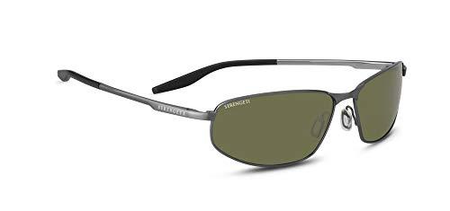Serengeti Matera Sunglasses Brushed Gunmetal Unisex-Adult Medium