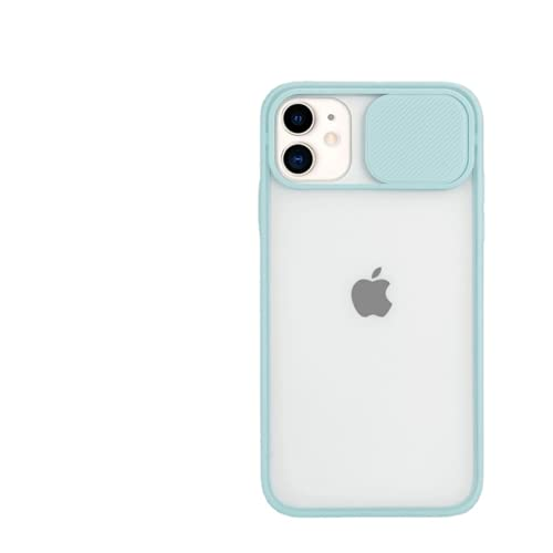 Custodia protettiva per iPhone 11 12 Pro Max X XS XR Xs Max Mate Clear Hard PC Cover (blu cielo)