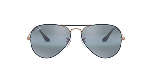 Ray-Ban 0RB3025 Gafas de sol, Copper On Matte Dark Blue, 57 para Hombre