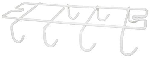 Vardesign Colgador de Cocina para un máximo de 8 Tazas, de Acero con Acabado Lacado Blanco, Muy Resistente, con sujeción por Tornillos