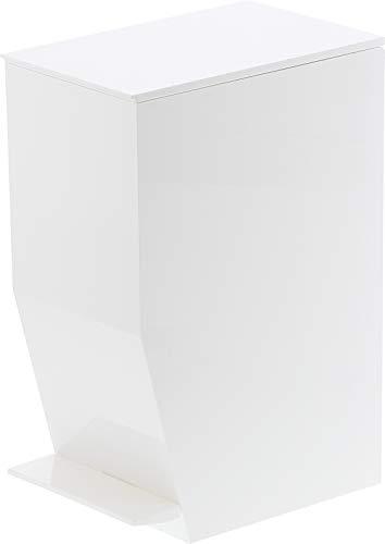 Gerson Papelera de baño, plástico, Blanco, 19x 12x 27,5cm