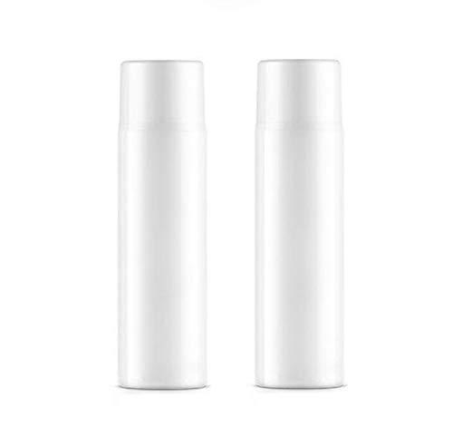 2PCS 120ML 4OZ vide vide en plastique blanc Airless bouteille avec couvercle et jetable Snap-on pompe tête lotion hydratante pot de lait flacon cosmétique