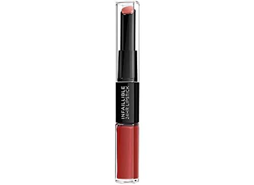 L'Oréal Paris - Rouge à Lèvres Duo Tenue 24h - Infaillible Duo - Teinte : Red Infaillible, Rouge (506) 5.6 ml