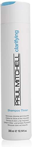 Paul Mitchell Shampoo Three - Tiefenreinigungs-Shampoo entfernt Chlorrückstände, für alle Haartypen, Haarpflege in Salon-Qualität, 300 ml