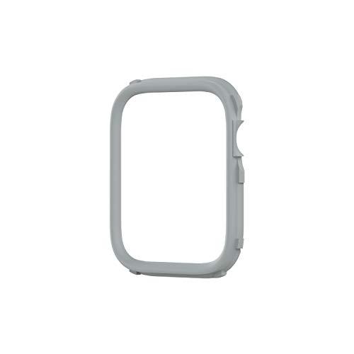 RhinoShield CrashGuard NX Extra Rim [ONLY] compatible with Apple Watch SE [44mm] & Series 6/5/ 4 [44mm] & Series 3/2/ 1 [42mm] | Additional ACCESSORY for RhinoShield Apple Watch Case - Platinum Grey