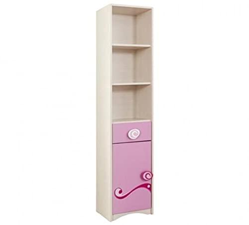 Bibliothèque pâle, pour Enfants Petite Princesse Rose/Nature