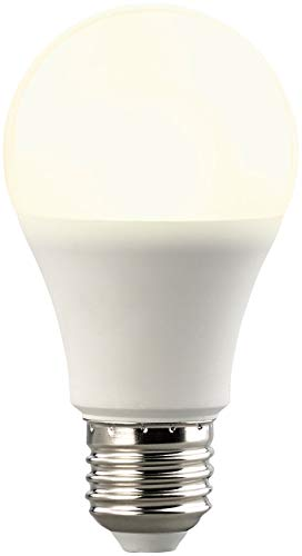 Luminea LED-Leuchte mit Sensor: LED-Lampe, Lichtautomatik & Radar-Sensor, 10 W, 806 lm, E27, warmweiß (LED Lampen mit Lichtsensor)