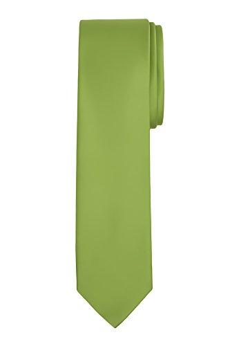 """Jacob Alexander Men's Slim Width 2.75"""" Solid Color Tie - Apple Green"""