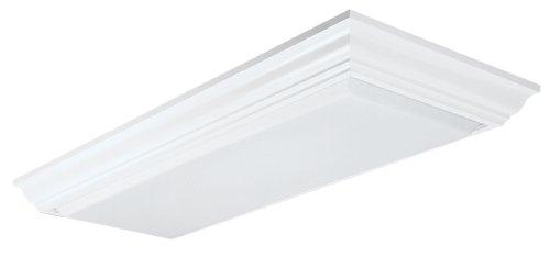 Lithonia Lighting 11432RE WH Cambridge Linear T8 Flush Mount Ceiling Light, White
