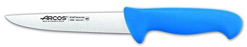 Arcos Séries 2900 - Couteau de Boucher Couteau à Steak - Lame Acier Inoxydable Nitrum 160 mm - Manche Polypropylène Couleur Bleu