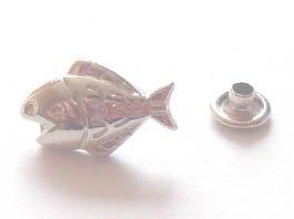 飾りカシメ お魚 (シルバー)