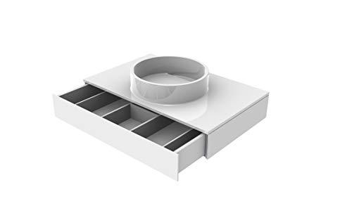 EMCO ASIS Waschtisch, ohne Armaturenbohrung (M-guss) mit Schublade, 815mm, optiwhite, HSN 957727410